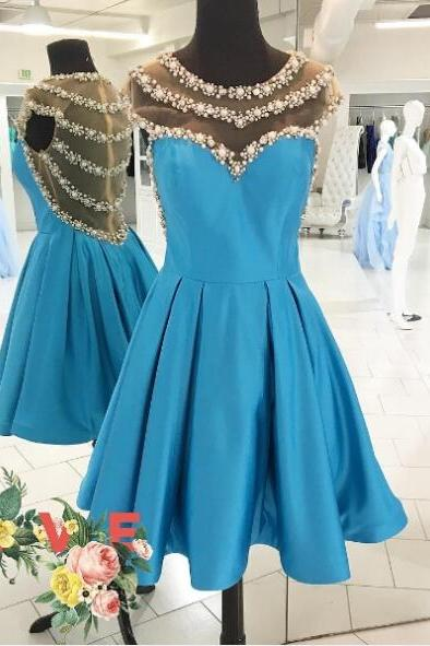 Prom Dress,Blue Women Dresses,Homecoming Dresses, Cute Dresses,Party Dress,Short Prom Dress