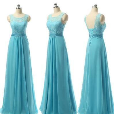 Turquoise bridesmaid dresses, lace bridesmaid dresses, lace up back bridesmaid dresses, cheap bridesmaid dresses, chiffon bridesmaid dress, long bridesmaid dress,