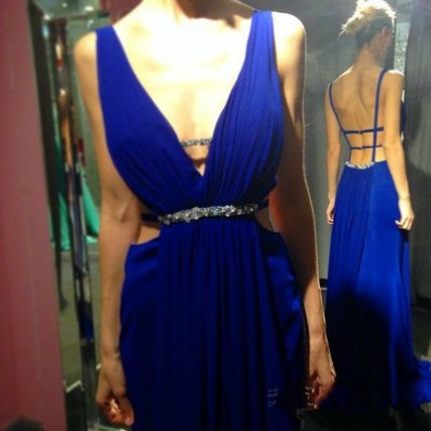 Backless Prom Dresses,Royal Blue Prom Dress,Open Back Formal Gown,Open Backs Prom Dresses,Sexy Evening Gowns,Chiffon Formal Gown For Teens